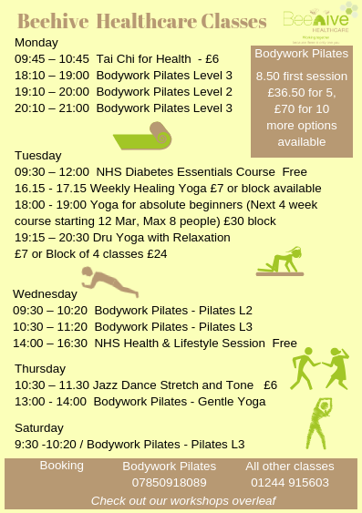 Yoga|Tai Chi | Pilates| Wellbeing Classes| Chester