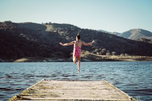 Beehive Healthcare | Health and Wellbeing Centre | EFT anxiety wellness | Jumping into water