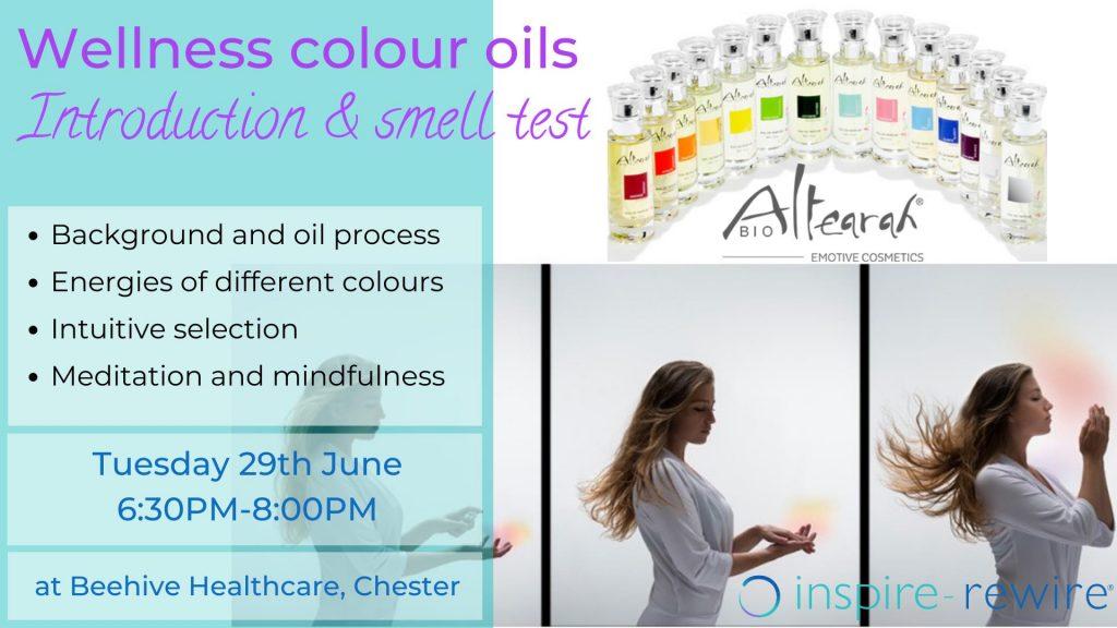 wellness colour oils workshop