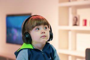 child listening autism support